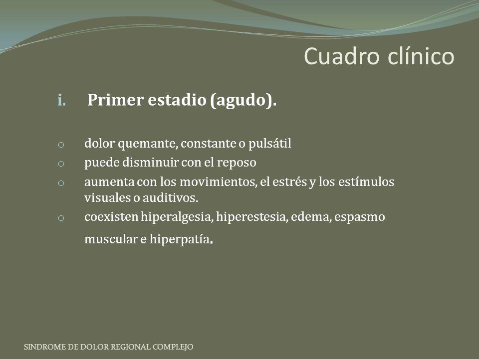Cuadro clínico Primer estadio (agudo).