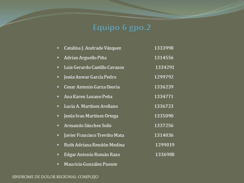 Equipo 6 gpo.2 Catalina J. Andrade Vázquez 1333998