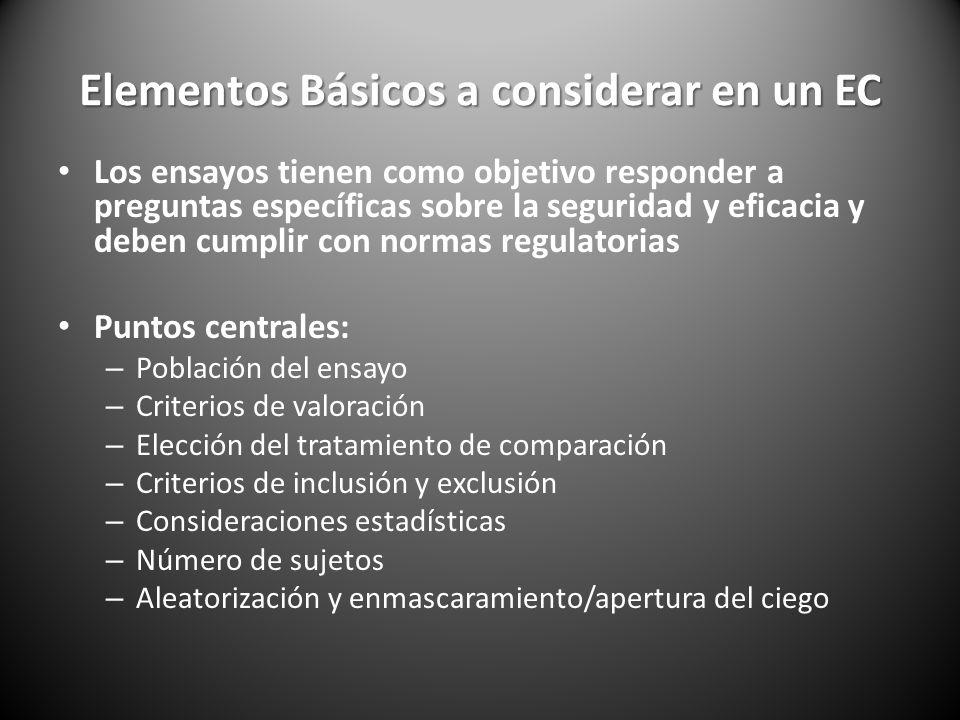 Elementos Básicos a considerar en un EC