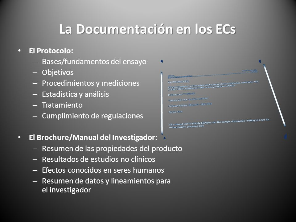 La Documentación en los ECs