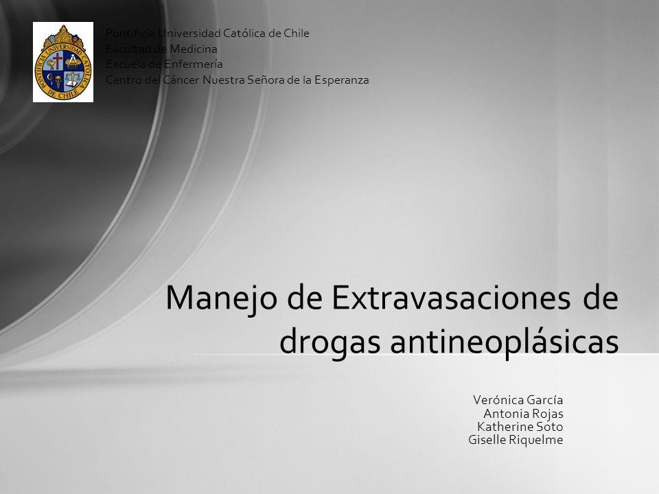 Manejo de Extravasaciones de drogas antineoplásicas