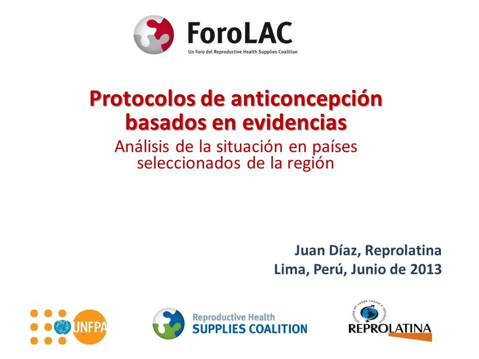 Protocolos de anticoncepción basados en evidencias