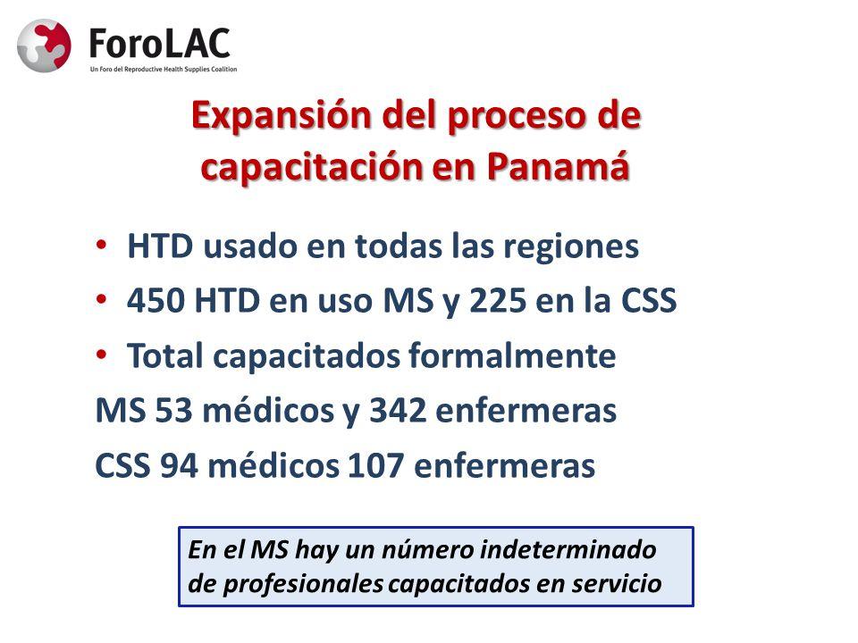 Expansión del proceso de capacitación en Panamá