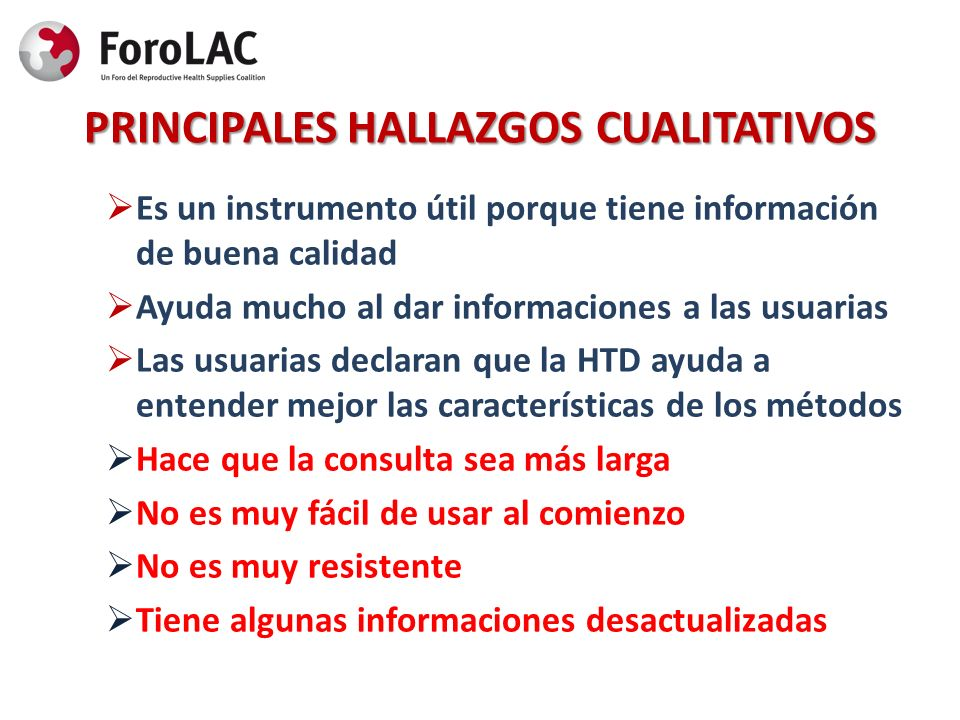PRINCIPALES HALLAZGOS CUALITATIVOS
