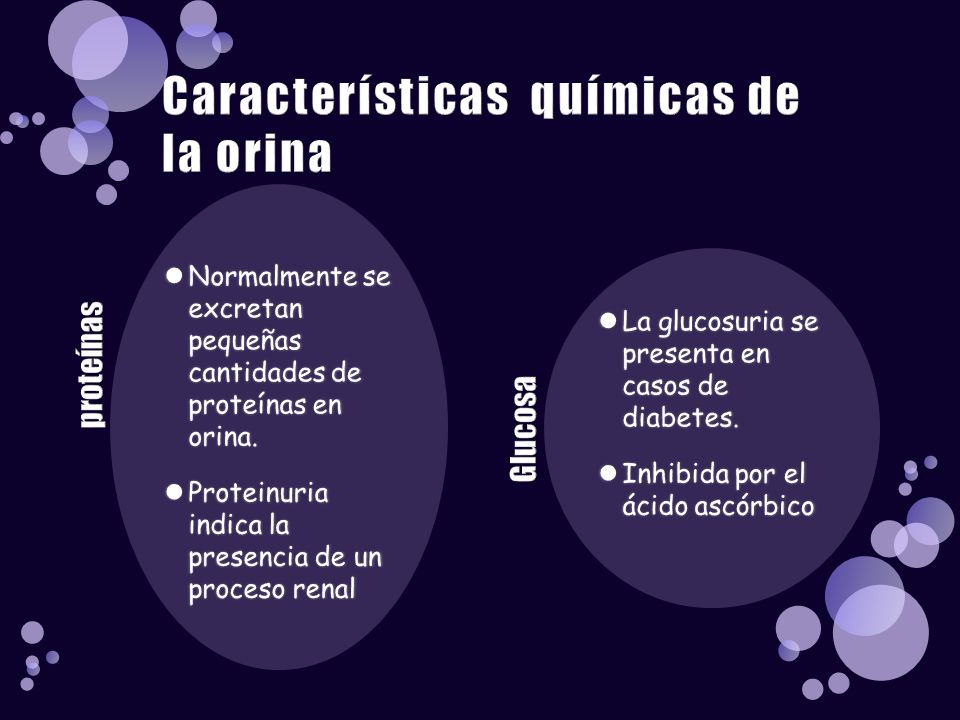 Características químicas de la orina