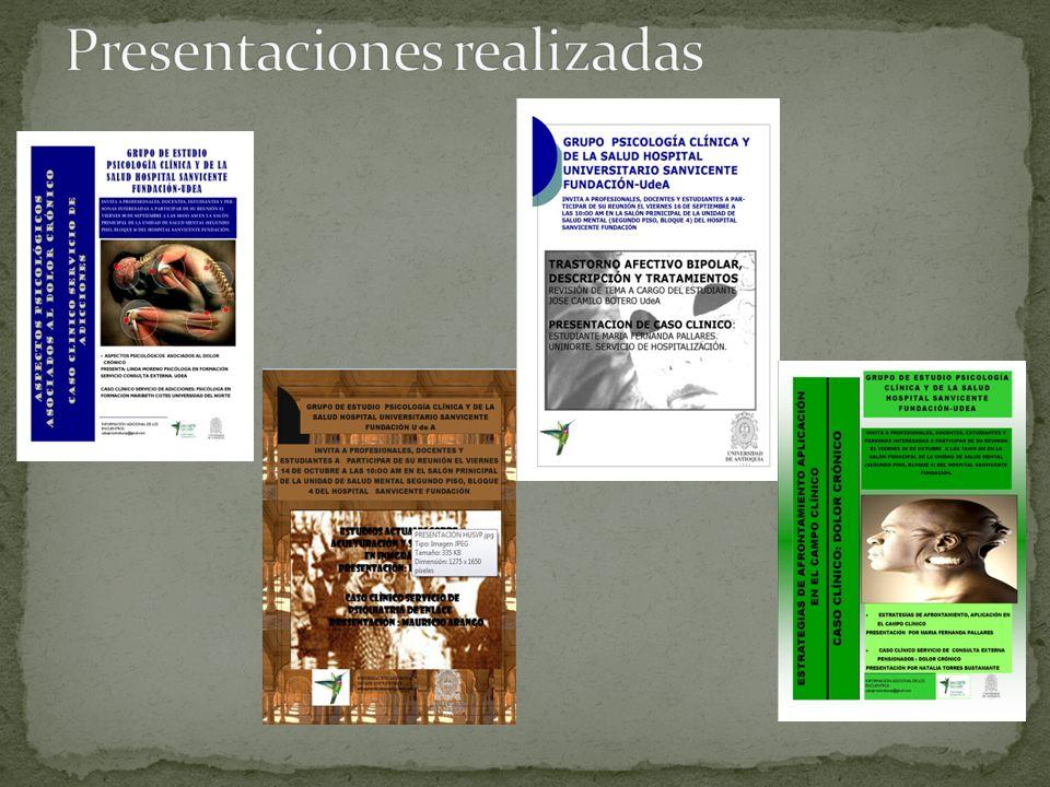 Presentaciones realizadas