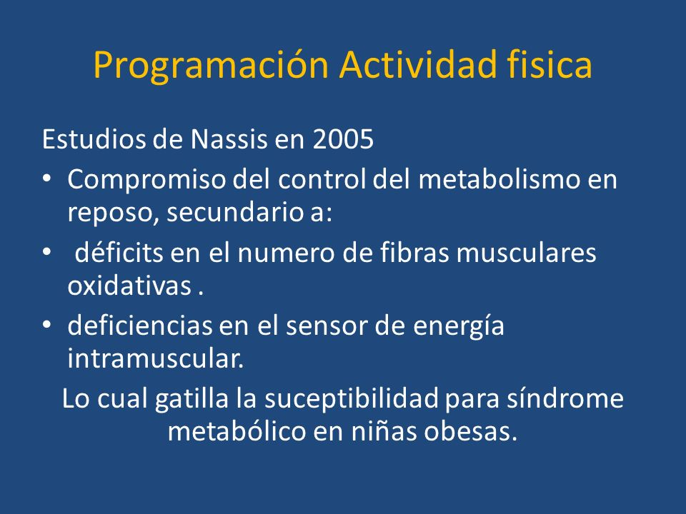 Programación Actividad fisica