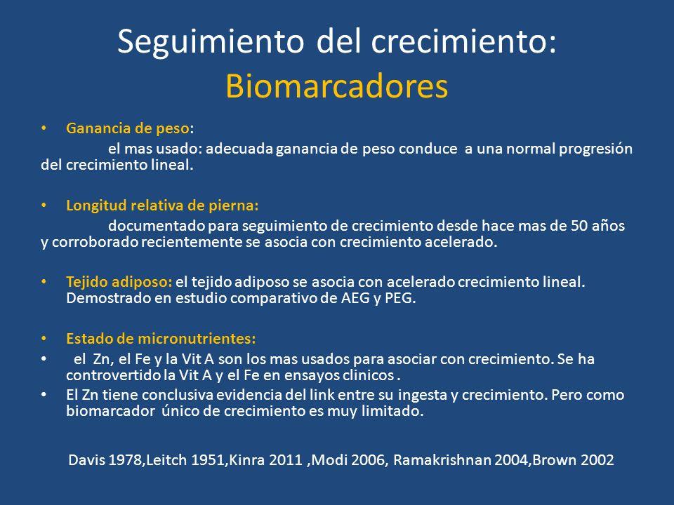 Seguimiento del crecimiento: Biomarcadores