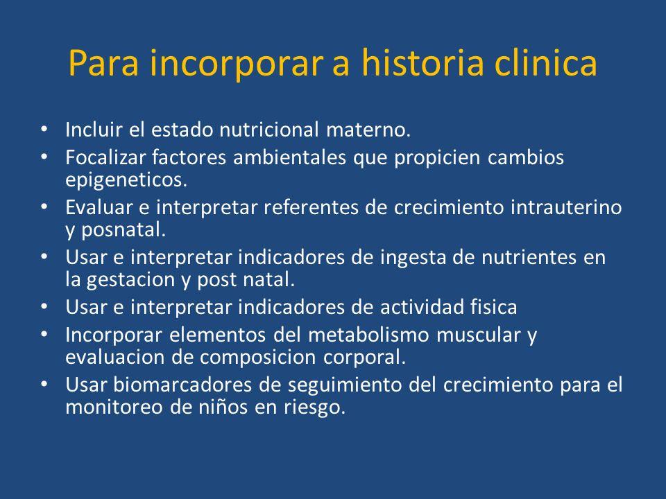 Para incorporar a historia clinica