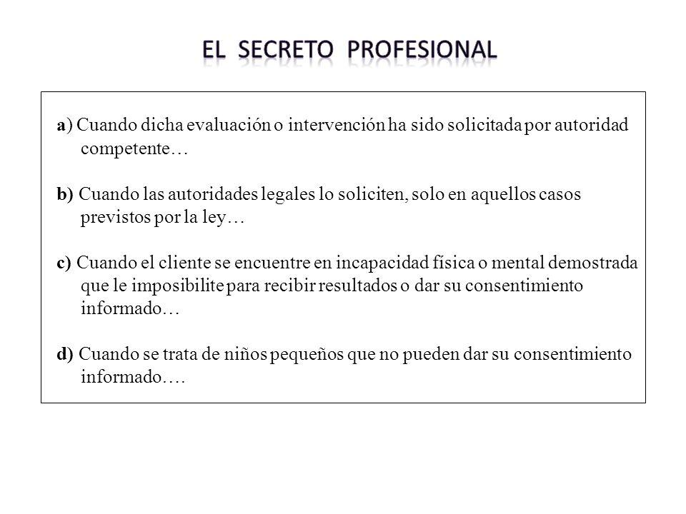 El secreto profesional
