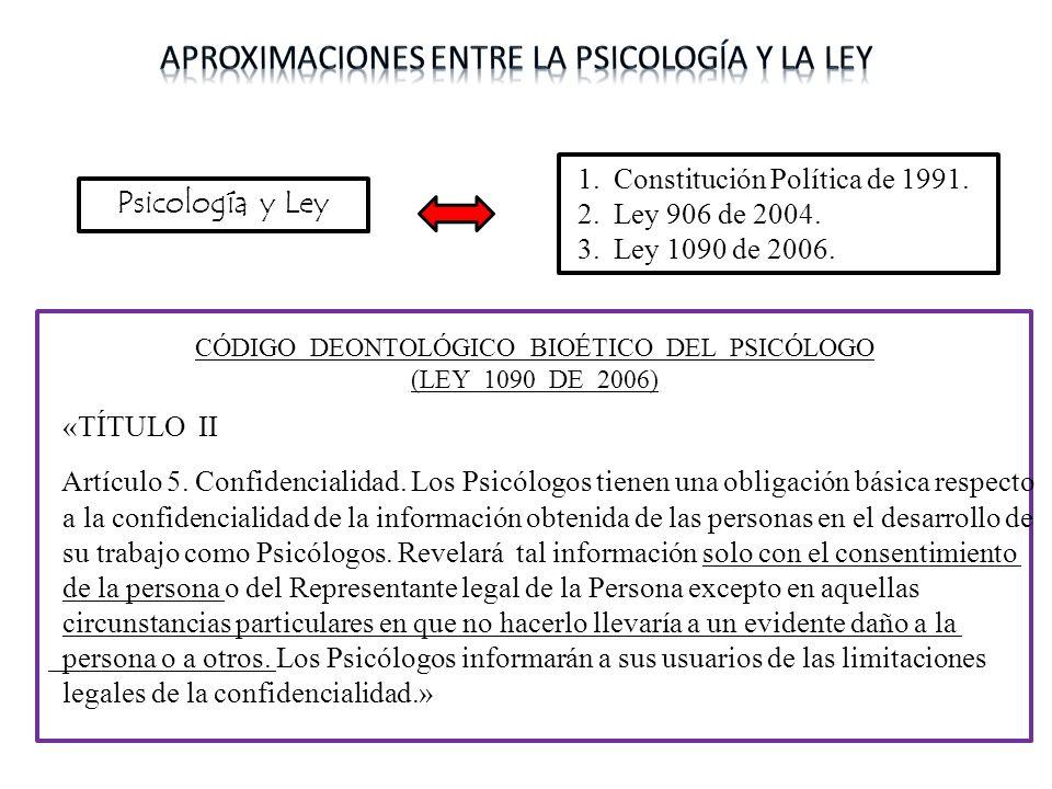 Aproximaciones entre la psicología y la ley