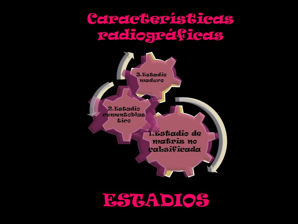 ESTADIOS Características radiográficas