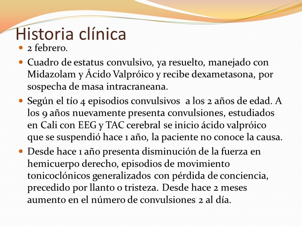 Historia clínica 2 febrero.