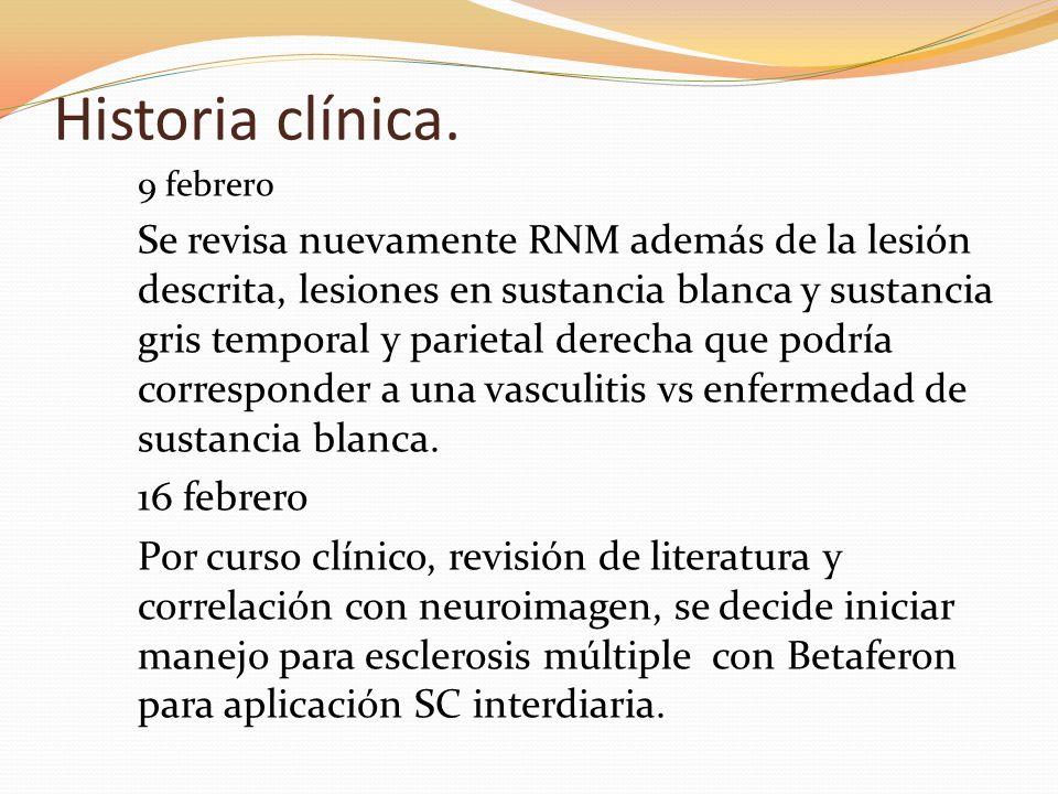 Historia clínica.9 febrero.