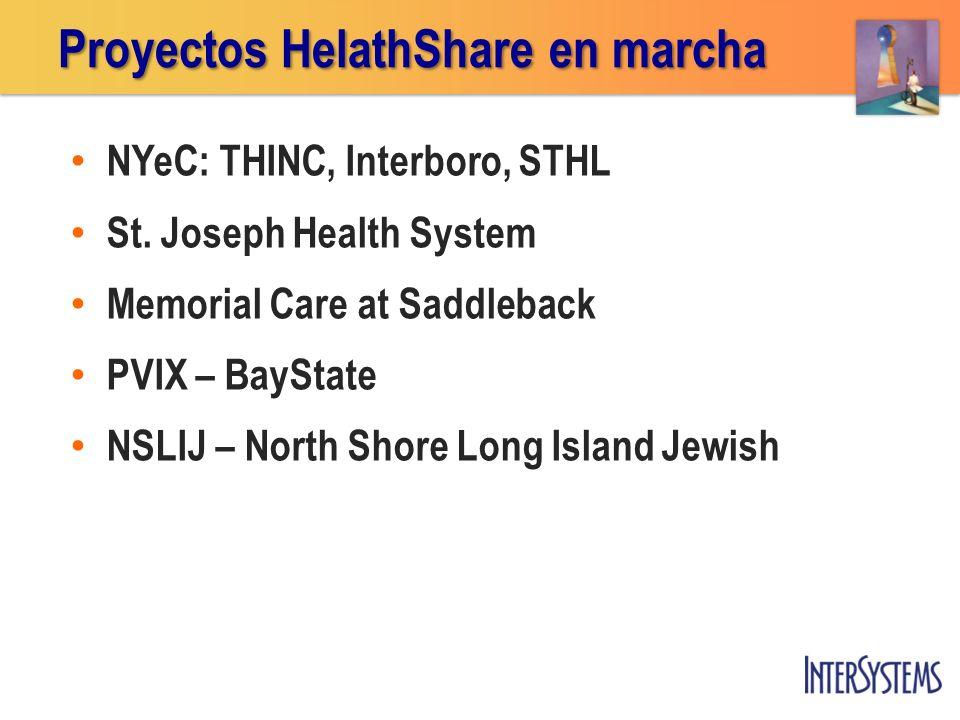 Proyectos HelathShare en marcha