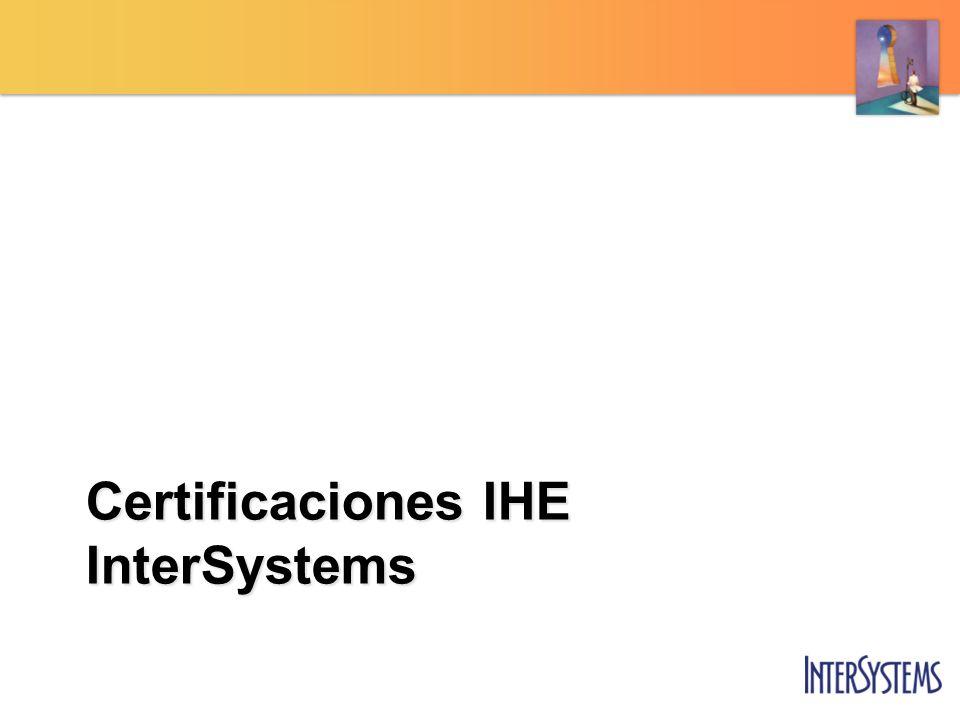 Certificaciones IHE InterSystems