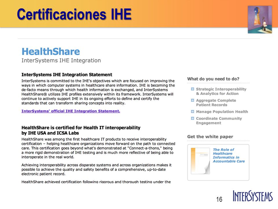Certificaciones IHE