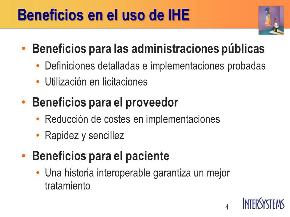 Beneficios en el uso de IHE