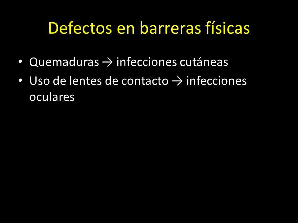 Defectos en barreras físicas