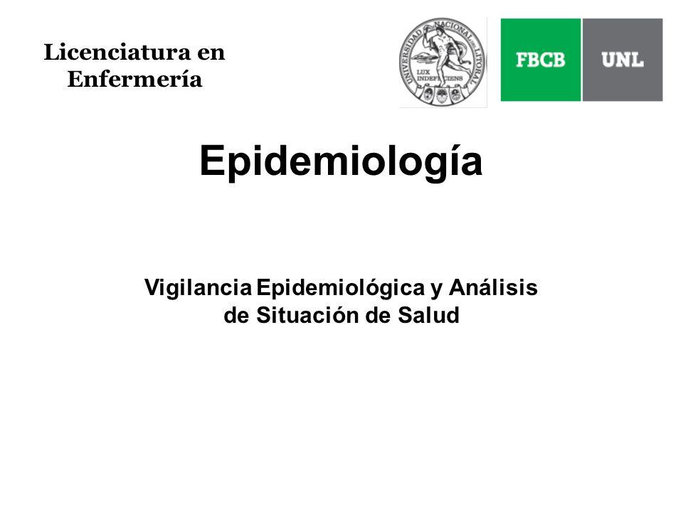 Epidemiología Licenciatura en Enfermería