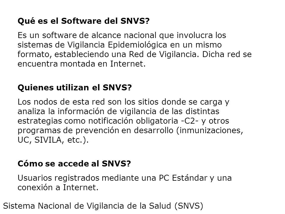 Qué es el Software del SNVS