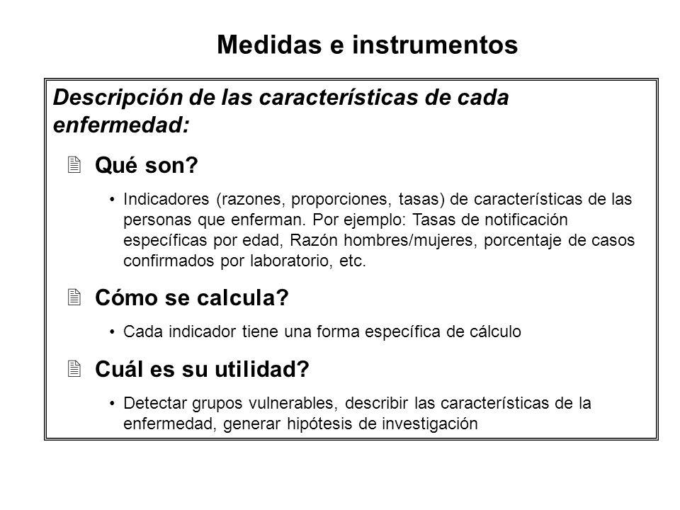 Medidas e instrumentos