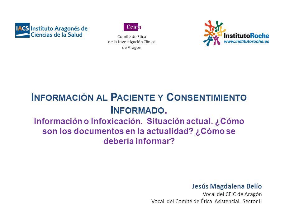Información al Paciente y Consentimiento Informado.