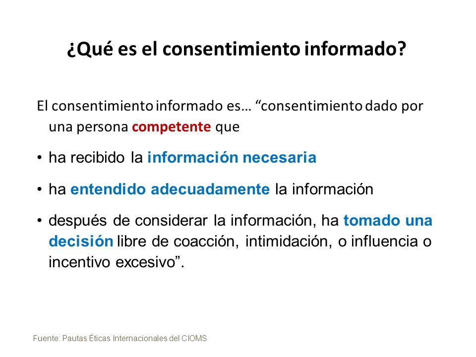 ¿Qué es el consentimiento informado