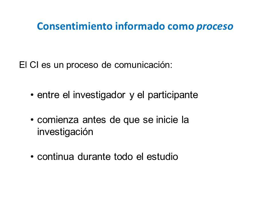 Consentimiento informado como proceso