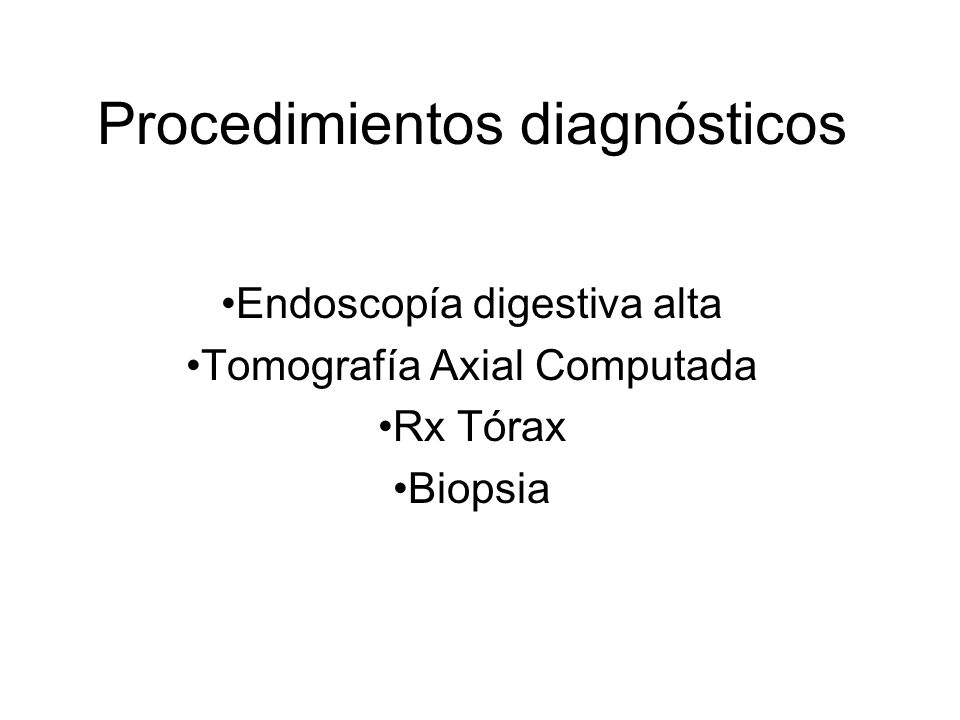 Procedimientos diagnósticos
