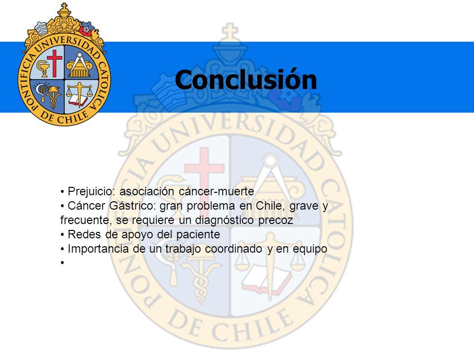 Conclusión Prejuicio: asociación cáncer-muerte