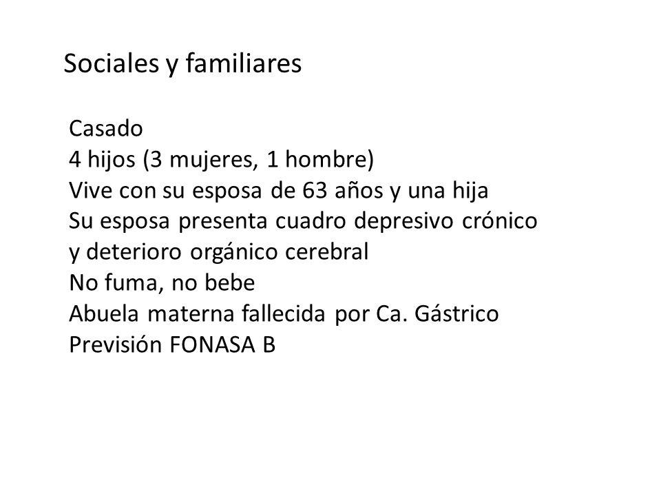 Sociales y familiares Casado 4 hijos (3 mujeres, 1 hombre)