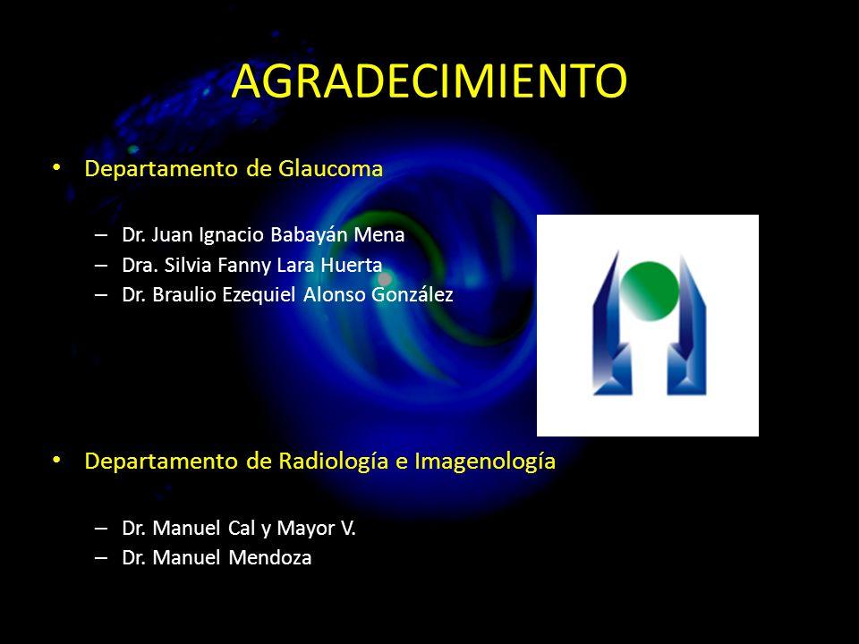 AGRADECIMIENTO Departamento de Glaucoma