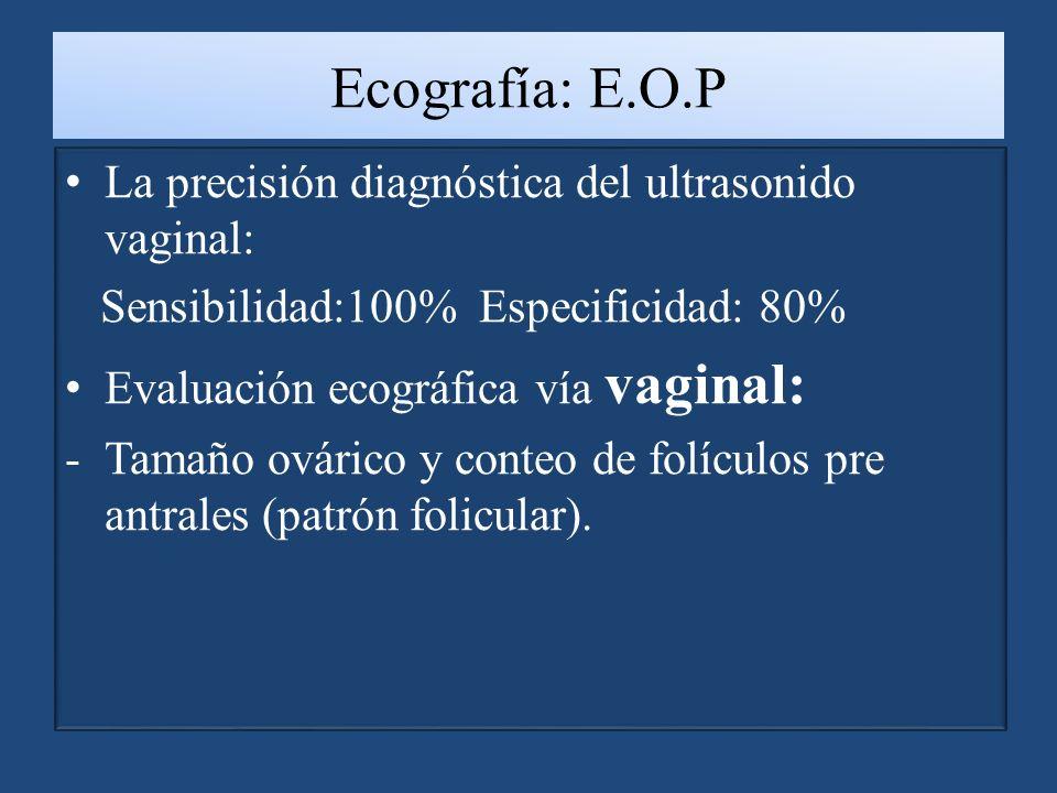 Ecografía: E.O.P La precisión diagnóstica del ultrasonido vaginal: