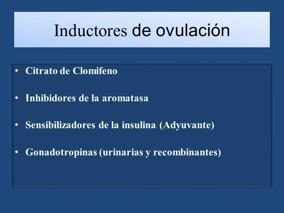 Inductores de ovulación