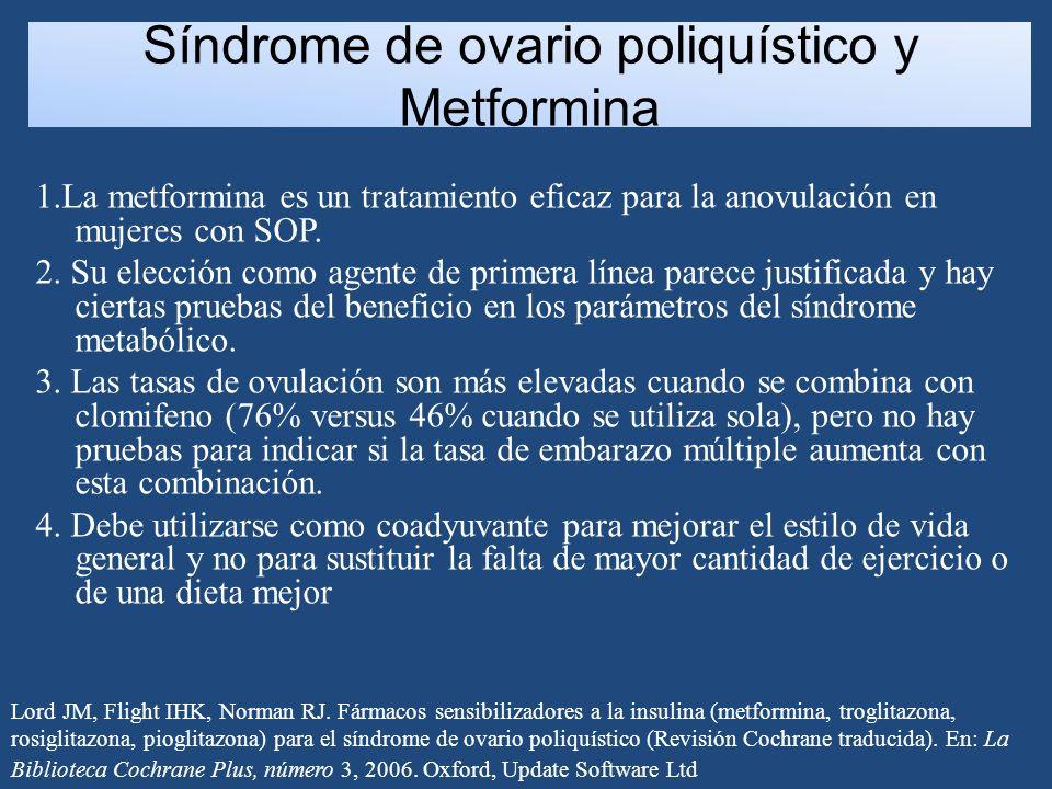 Síndrome de ovario poliquístico y Metformina