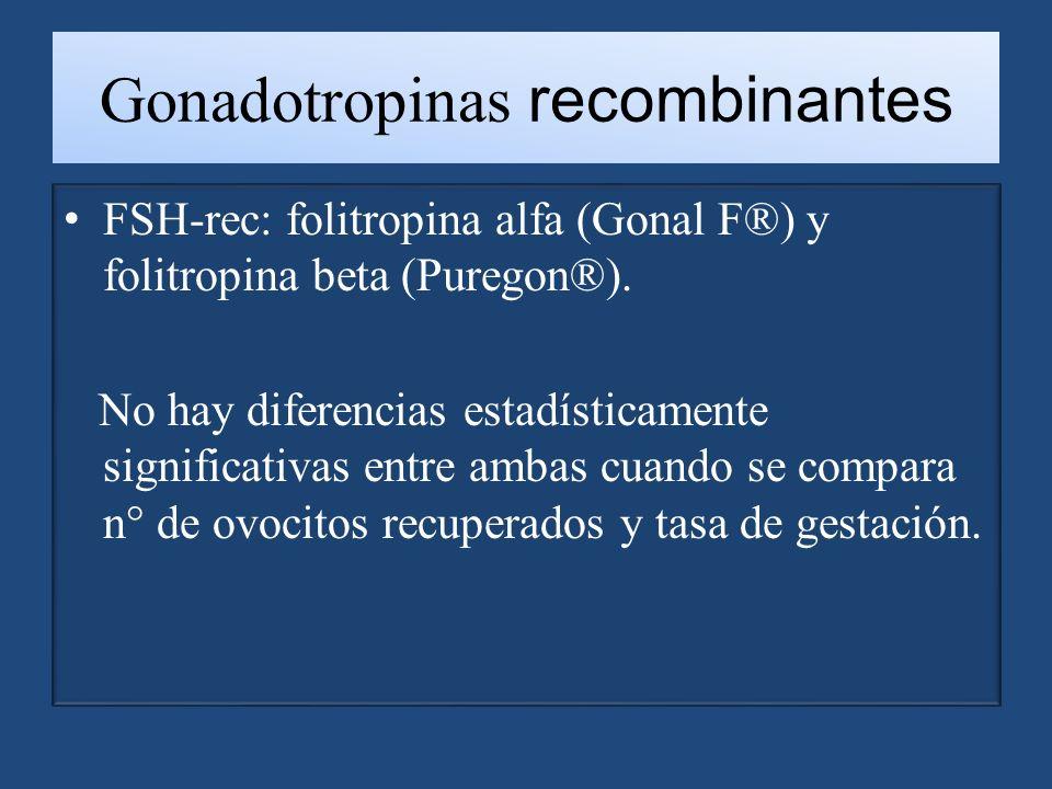 Gonadotropinas recombinantes