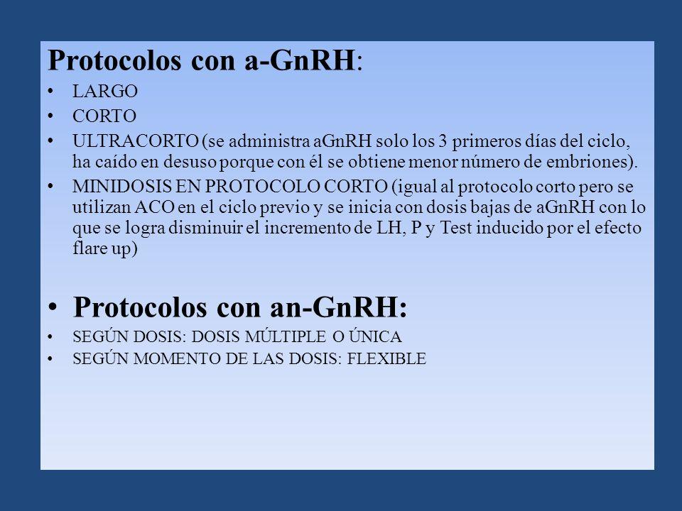 Protocolos con a-GnRH: