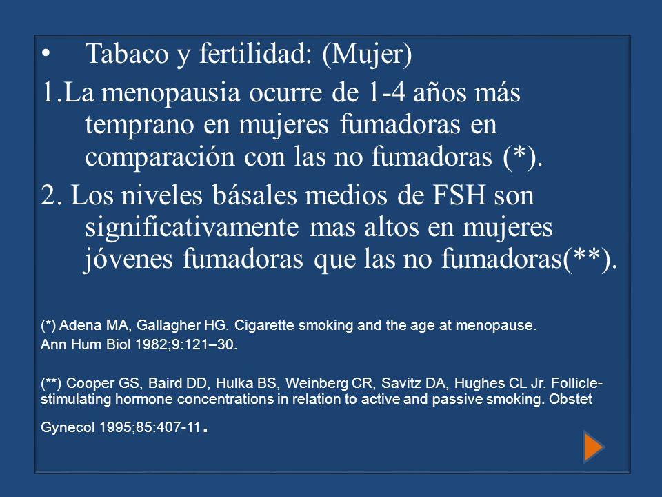 Tabaco y fertilidad: (Mujer)