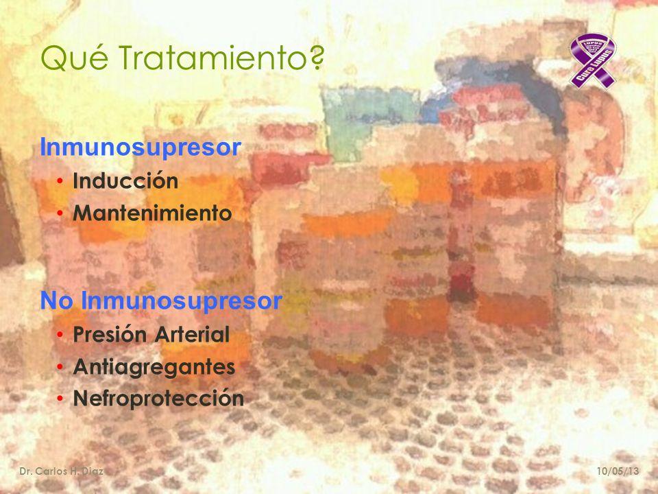 Qué Tratamiento Inmunosupresor No Inmunosupresor Inducción