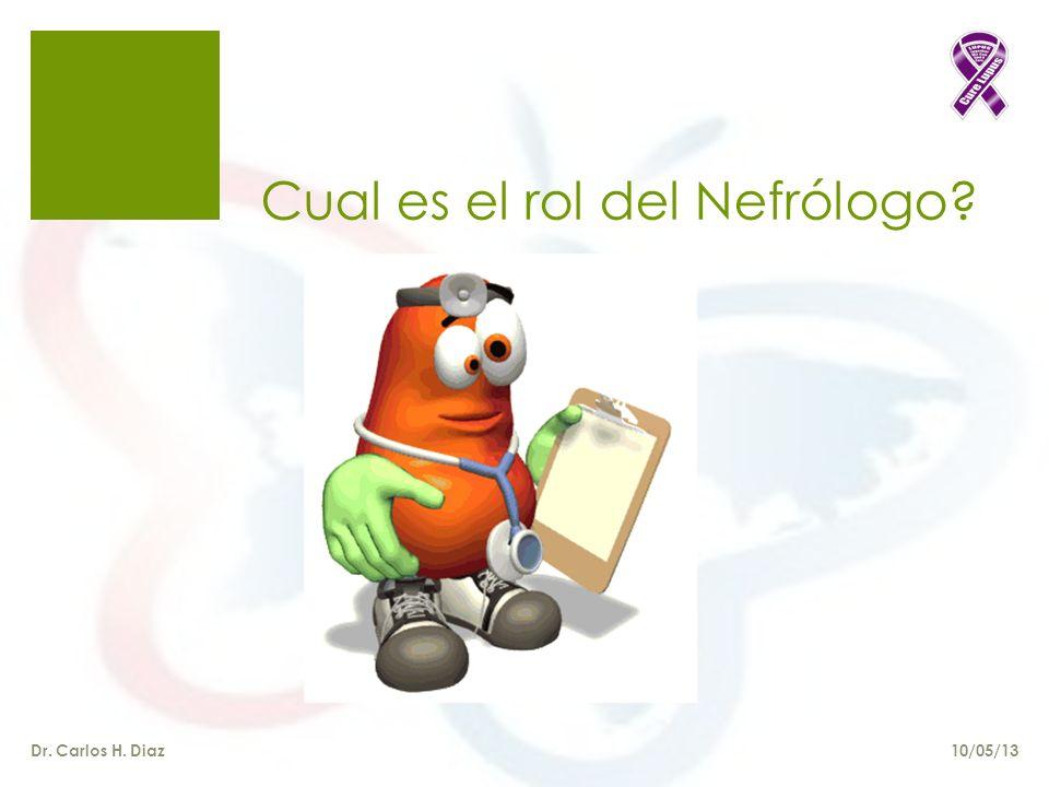 Cual es el rol del Nefrólogo