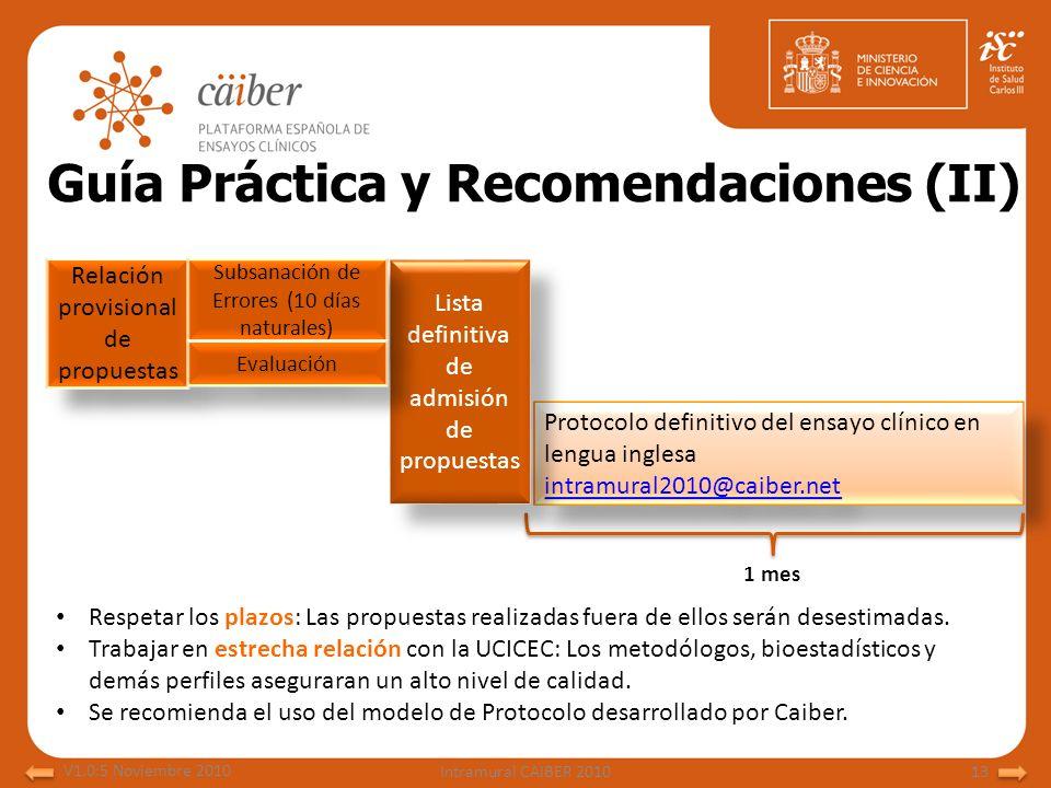 Guía Práctica y Recomendaciones (II)