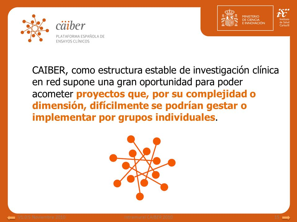 CAIBER, como estructura estable de investigación clínica en red supone una gran oportunidad para poder acometer proyectos que, por su complejidad o dimensión, difícilmente se podrían gestar o implementar por grupos individuales.