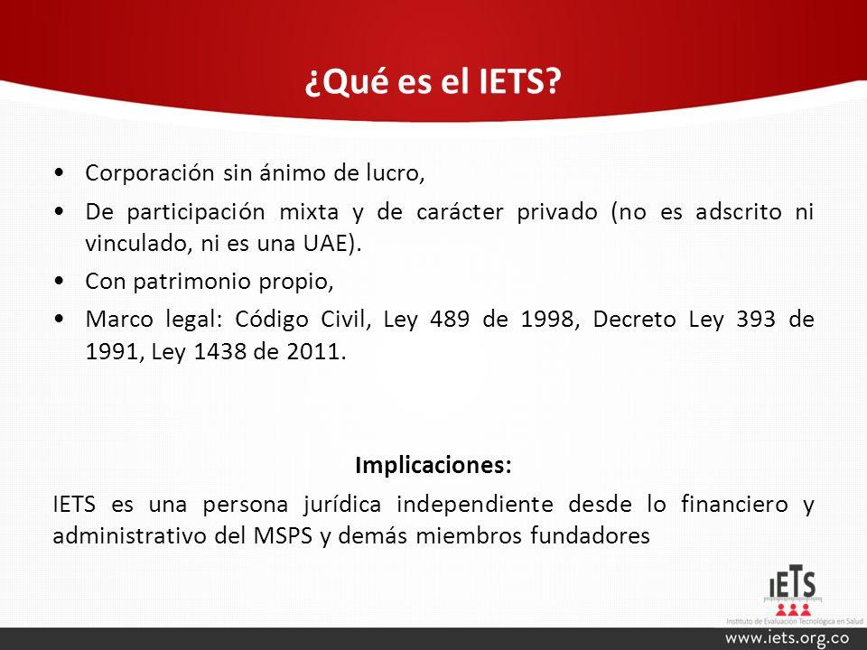 ¿Qué es el IETS Corporación sin ánimo de lucro,