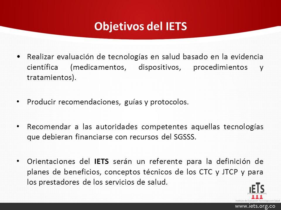 Objetivos del IETS