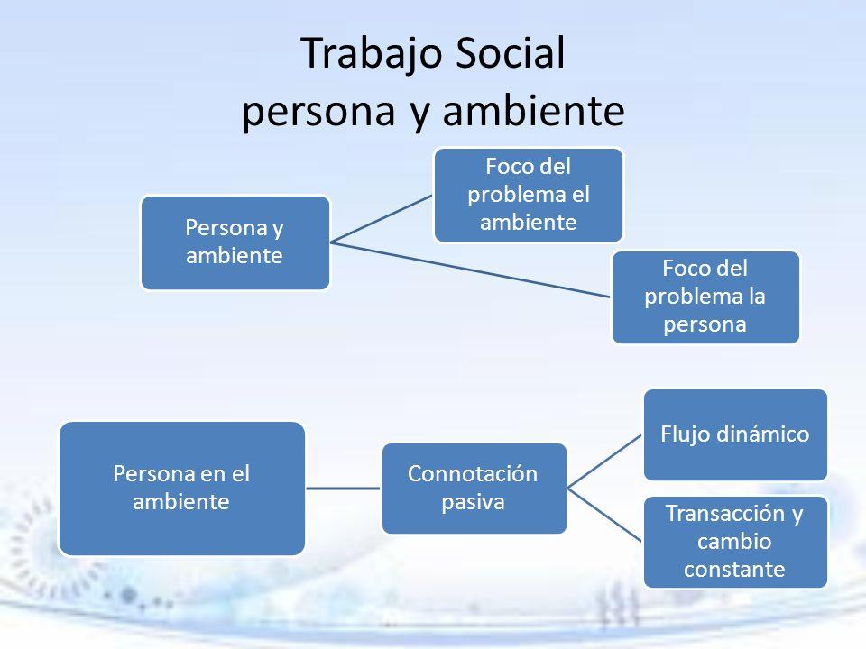 Trabajo Social persona y ambiente