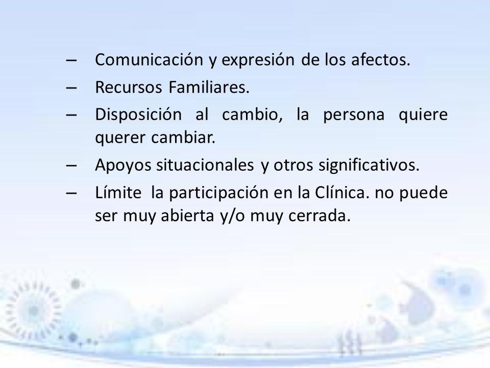 Comunicación y expresión de los afectos.