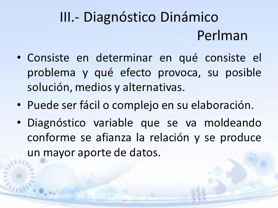 III.- Diagnóstico Dinámico Perlman
