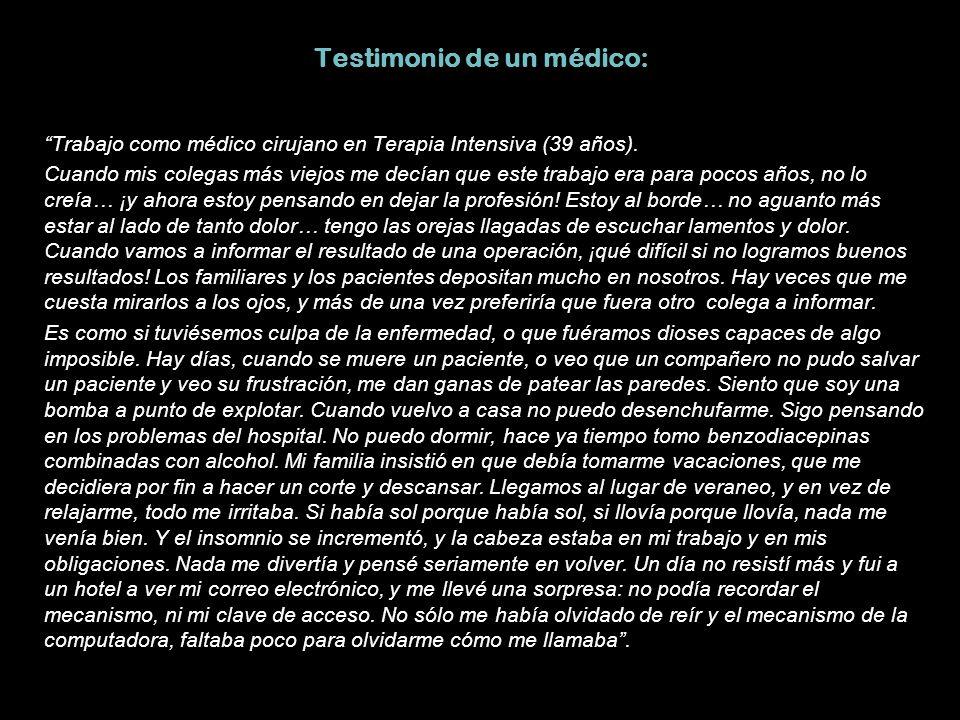 Testimonio de un médico: