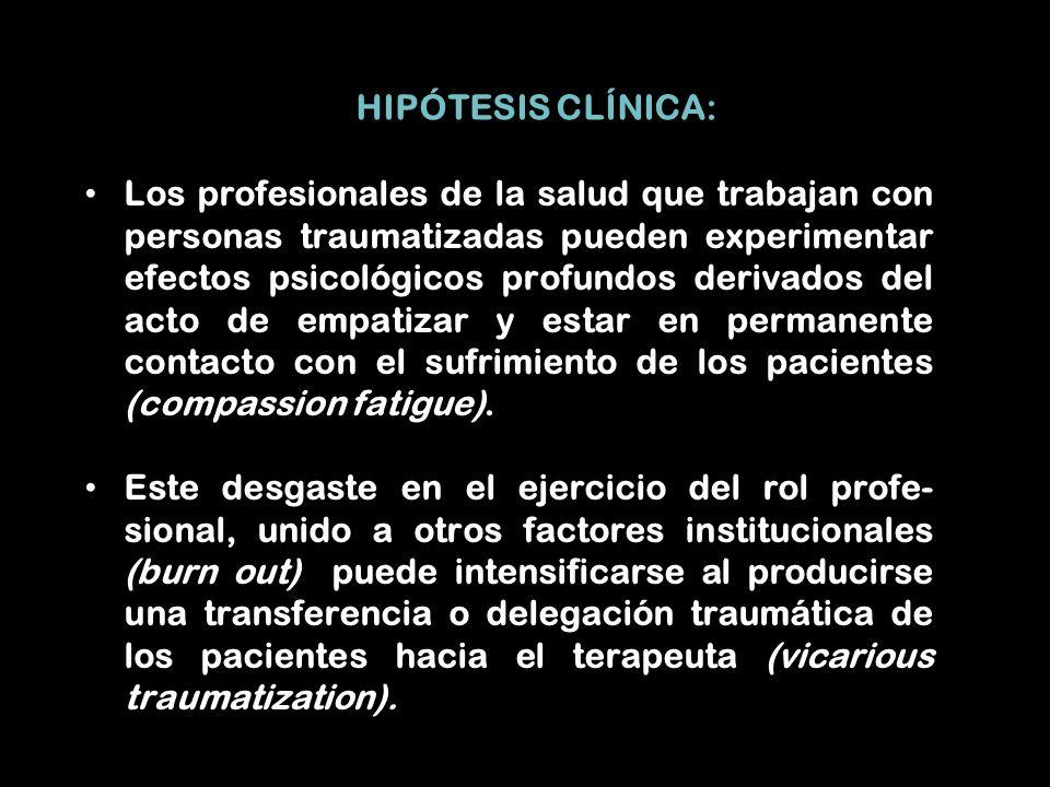 HIPÓTESIS CLÍNICA: